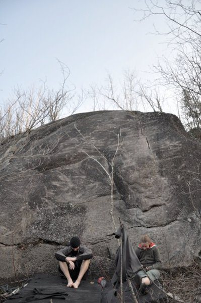 Rock Climbing Photo: Super Slab L to R: Decayed Strange Quark, Time Dil...