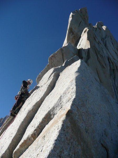 Rock Climbing Photo: Getting on the ridge