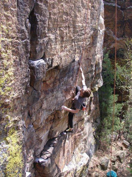 Rock Climbing Photo: Rhoads on TR.