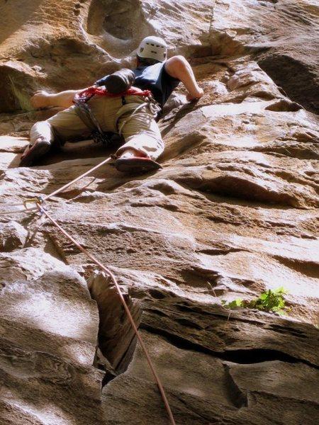 "Rock Climbing Photo: Shows the routes namesake ""Red Eye"""