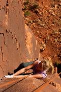 Rock Climbing Photo: Work it Girly!