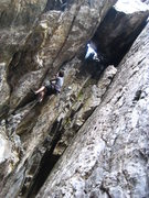 Rock Climbing Photo: Mark picked this climb to do for his birthday. Thr...