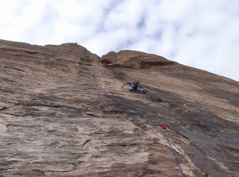 Rock Climbing Photo: Woman of mountain dream pitch 4