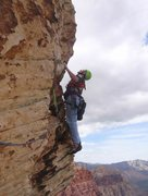 Rock Climbing Photo: Pitch 13 airy traverse Woman of Mountain dreams