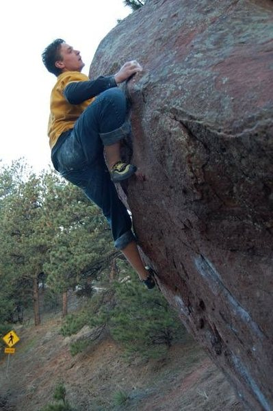 Rock Climbing Photo: The hard top section.