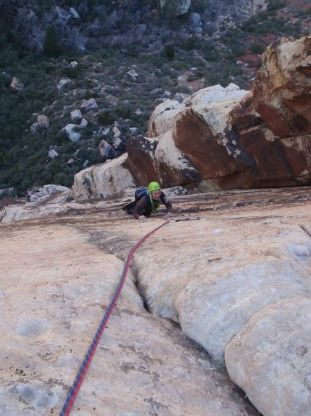 Rock Climbing Photo: Final pitch, final sequences on Edge of the sun