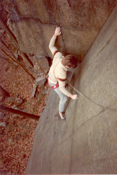 Rock Climbing Photo: Moving into the corner.