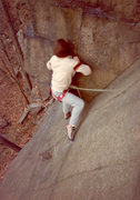Rock Climbing Photo: Pushing up into your first good stance. The first ...