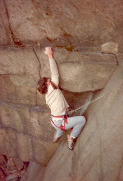 Rock Climbing Photo: Pulling the small roof on the left wall before mov...