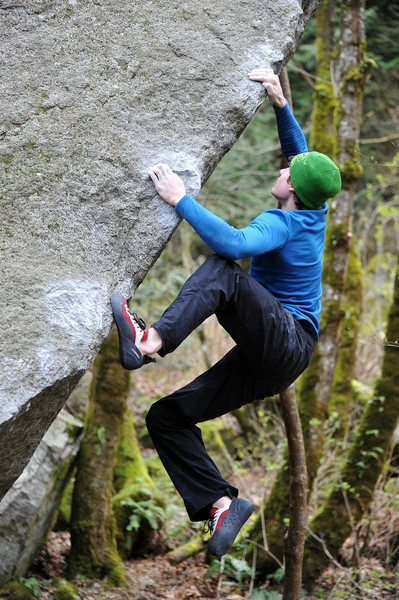 Rock Climbing Photo: On the arete...