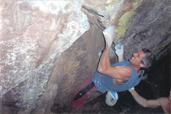 Rock Climbing Photo: John Baldwin on West Ridge Traverse - Undercling S...