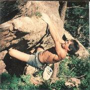 Rock Climbing Photo: John Baldwin on West Ridge Traverse, circa 1994.