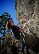 Rock Climbing Photo: Luke Childers finishing of the upper section of &q...