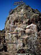 "Rock Climbing Photo: Photo beta for the ""Peabody Wall.""  The ..."