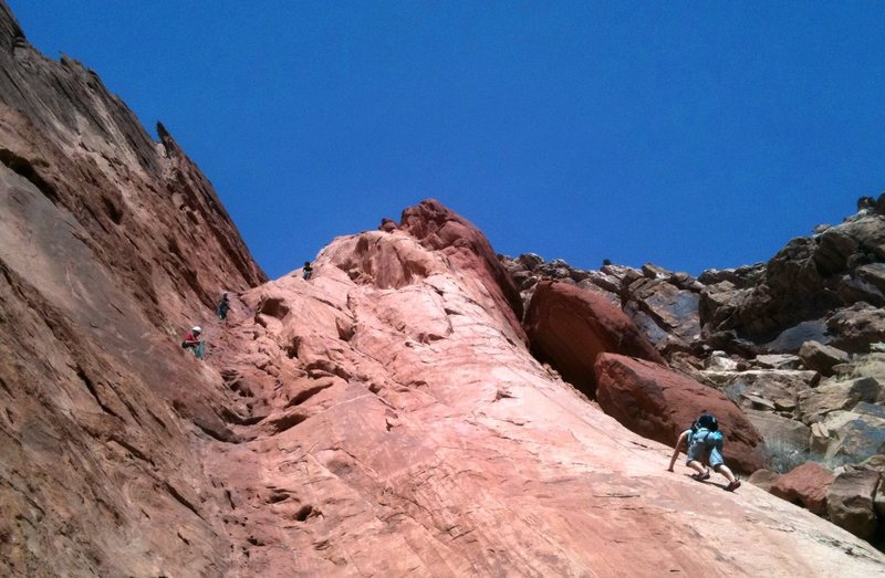 Fun day in the sun. Crews working 1000' of Fun (on left) and 1200' of More Fun (on right).