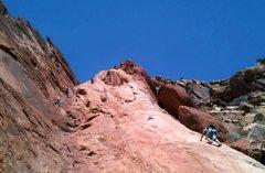 Rock Climbing Photo: Fun day in the sun. Crews working 1000' of Fun (on...