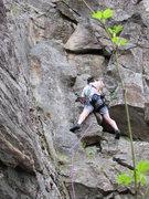 Rock Climbing Photo: Glenn on the first pitch