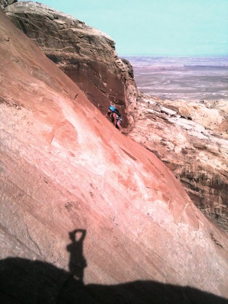 Rock Climbing Photo: The Shadow Man commeth. That gurl with the ass thi...