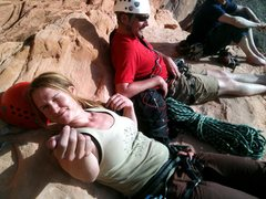 Rock Climbing Photo: Then they reach over and shoot me the bird for sho...