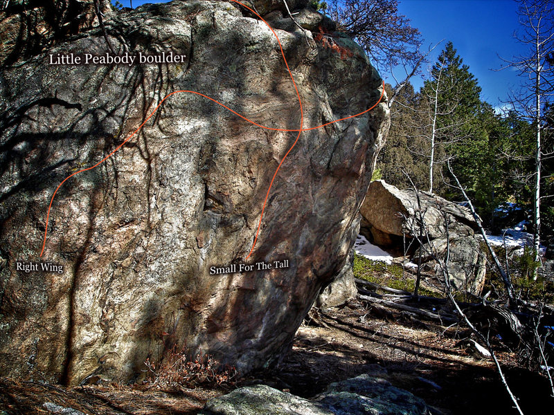 "Rock Climbing Photo: Photo beta for the back side of the ""Little P..."