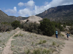Rock Climbing Photo: This is the collection of boulders as you approach...