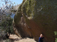 Rock Climbing Photo: This is the wall that faces the trail but is mostl...