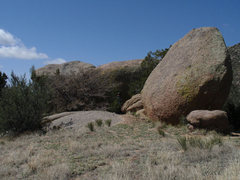Rock Climbing Photo: This is the pointed boulder at the right end of th...