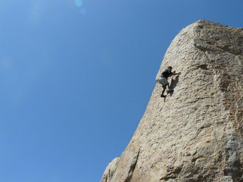 Excellent climbing on the Holcomb Creek Tower.