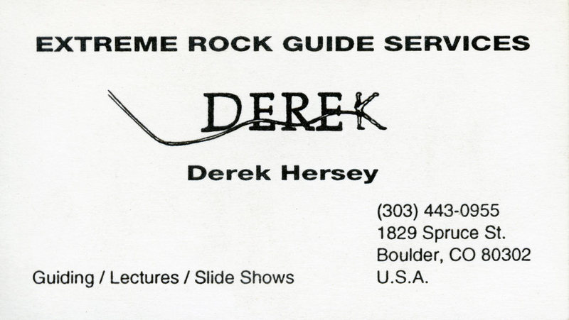 Derek's business card