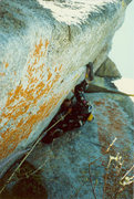 Rock Climbing Photo: Crux pitch, 5.11b