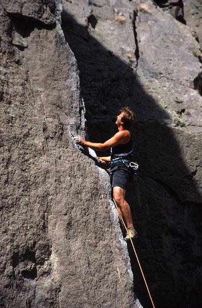 Rock Climbing Photo: Eric Foltz on Gorgeous 5.10a