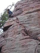 Rock Climbing Photo: Matt Kuehl on Lower Diagonal. This is the best pic...