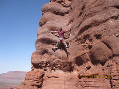 Rock Climbing Photo: Scott Anderson freeing the 1st bolted section.