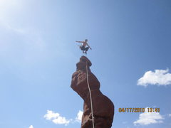 Rock Climbing Photo: Jumping for joy on the summit!