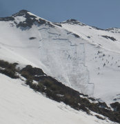 Rock Climbing Photo: Watch out for them avalanches! This one was on a n...