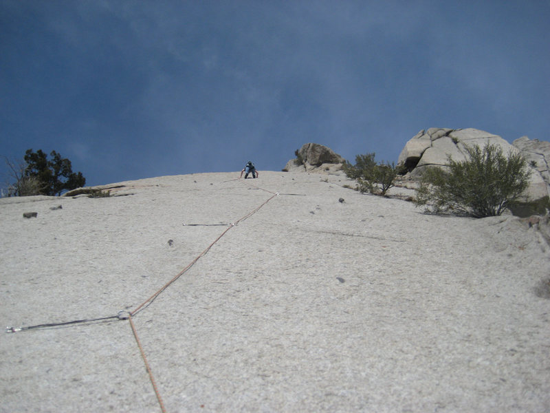 Rock Climbing Photo: Thomas on final link. Beautiful pitch!