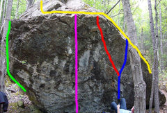 Rock Climbing Photo: Photo of the Entire Frostbite Boulder Green Finger...