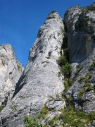 Rock Climbing Photo: Pilier Gris, the gray pillar, at Lans-en-Vercors