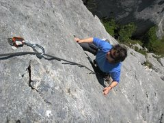 Rock Climbing Photo: Clean as a whistle.  The improbable second pitch o...
