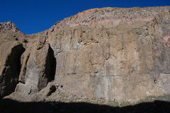 Rock Climbing Photo: China Wall in the afternoon, Solarium area on the ...