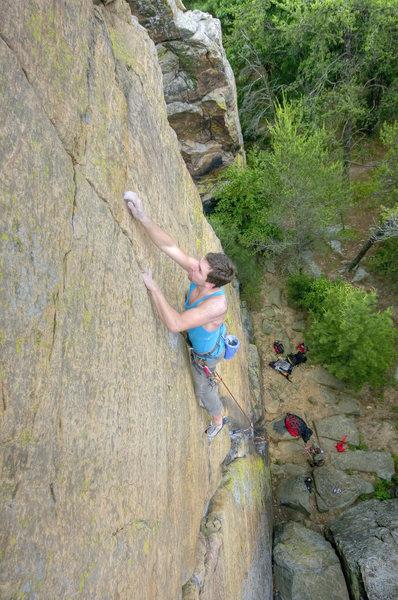 Rock Climbing Photo: Leading June 14th, 2009. Photo by Kris Gorny