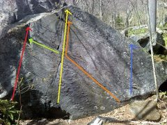 Rock Climbing Photo: Red Line - Metallic V7 Green Line - Scumbag Blues ...