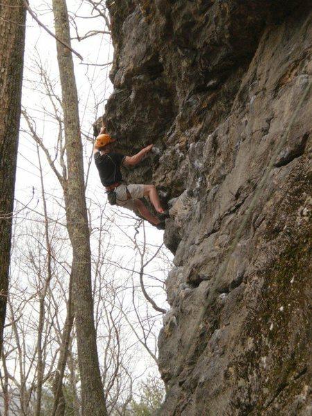 Rock Climbing Photo: dylan sending No Money down 5.10