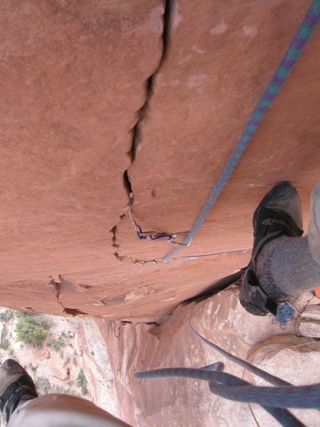 Rock Climbing Photo: Last pitch of Creatures from the Black Saloon.