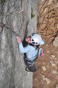 Rock Climbing Photo: Janice on the initial crack