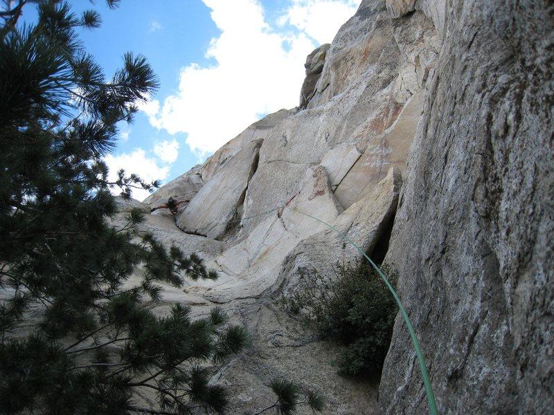 Rock Climbing Photo: matt milking the no hands rest mid way up the bat ...