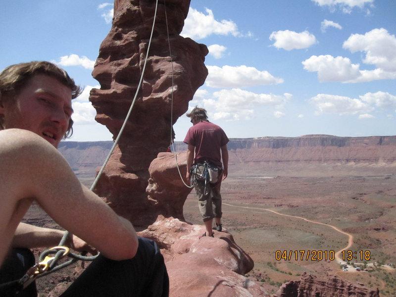 Rock Climbing Photo: Walk the Plank!