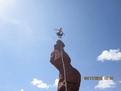 Rock Climbing Photo: Catching some air!