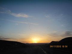 Rock Climbing Photo: Sunset in the desert.