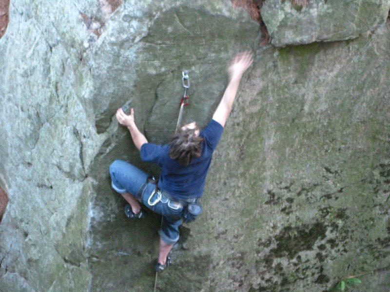 Rock Climbing Photo: Climbing the PWB arete with some new dreads.